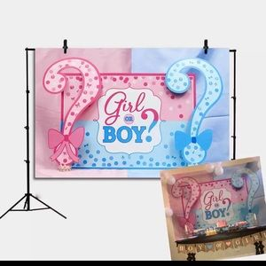 Gender reveal party backdrop 5x3ft